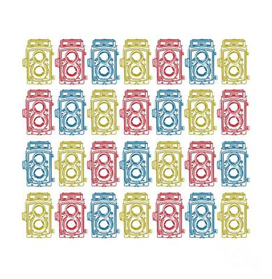 Twin Lens Camera Pattern Art Print