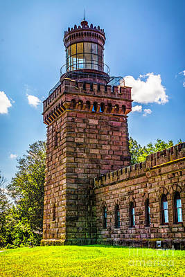 Photograph - Twin Lights South Tower by Nick Zelinsky