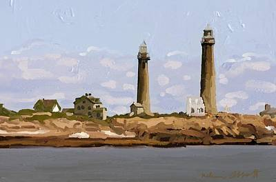 Twin Lights, Thatcher's Island, Rockport, Ma Art Print