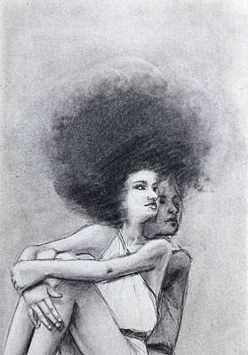 Drawing - Twin Look by Mays Mayhew