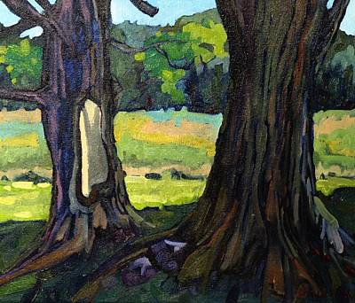 Twin Maples Art Print by Phil Chadwick