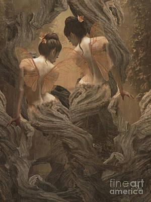 Digital Art - Twin Peak by Babette Van den Berg