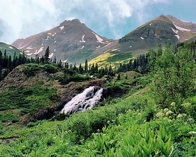 Twin Peaks And Waterfalls Art Print
