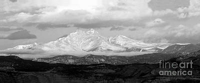 Photograph - Twin Peaks Black And White Panorama by James BO Insogna