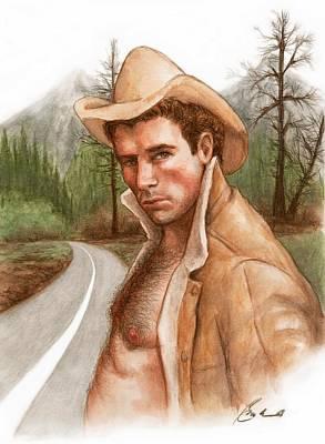 Twin Peaks Cowboy Art Print by Bruce Lennon