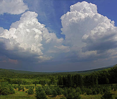 Field Digital Art - Twin Peaks by Jerry LoFaro