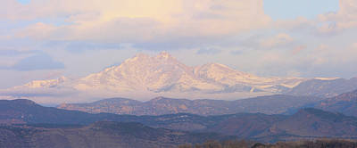 Twin Peaks Meeker And Longs Peak Panorama Color Image Art Print