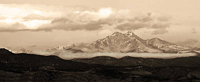 Sepia Photograph - Twin Peaks Sepia Panorama by James BO  Insogna