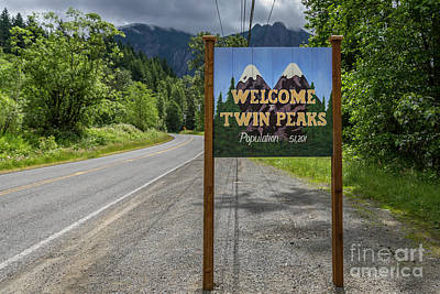 Photograph - Twin Peaks Sign by John Roberts
