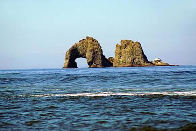Photograph - Twin Rocks At Rockaway Beach by Ben Upham III