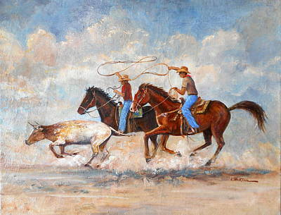 Lynn Burton Wall Art - Painting - Twin Ropers by Lynn Burton