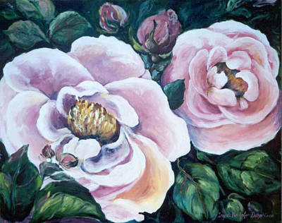 Painting - Twin Roses by Ingrid Dohm