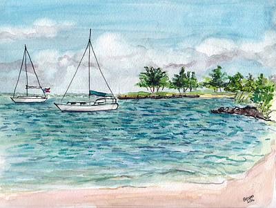 Painting - Twin Sails by Clara Sue Beym