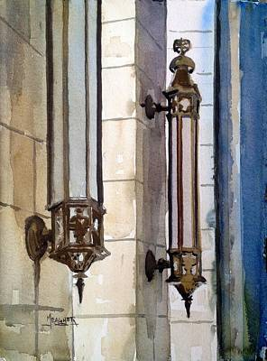 Sconce Painting - Twin Sconces by Spencer Meagher