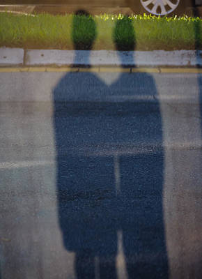 Photograph - Twin Shadows by Robin Zygelman