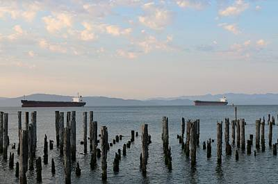 Photograph - Twin Ships  by Christy Pooschke