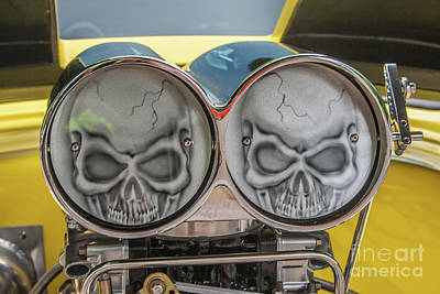 Photograph - Twin Skulls by Tony Baca