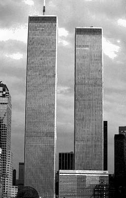 Photograph - Twin Towers 1985 by John Schneider