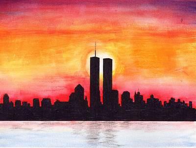 Mixed Media - Twin Towers by Al Intindola
