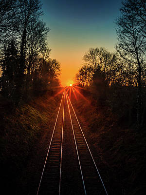 Photograph - Twin Tracks by Nick Bywater
