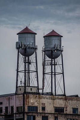 Duluth Photograph - Twin Water Towers by Paul Freidlund