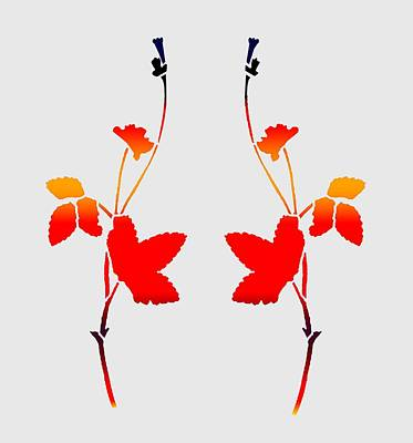 Digital Art - Twin Wildflowers by Cecilia Swatton