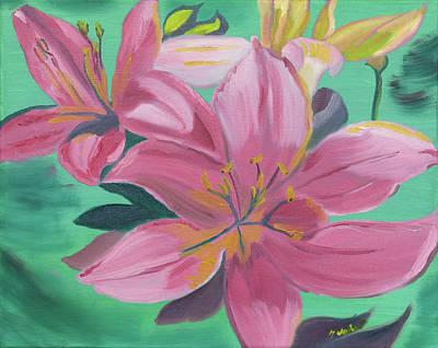 Painting - Twinkle Petals by Meryl Goudey