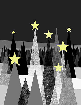 Twinkle Night Art Print by Val Arie