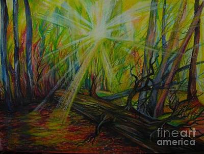 Twinkle Twinkle Autumn Light Print by Anna  Duyunova