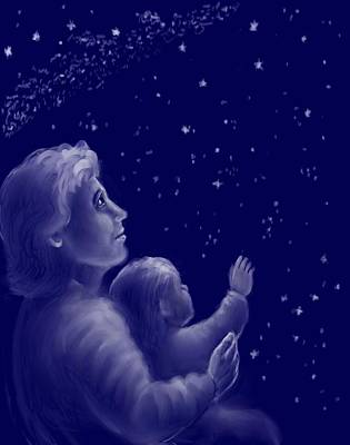 Drawing - Twinkle Twinkle Little Star by Dawn Senior-Trask