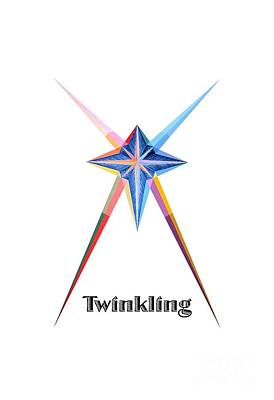 Painting - Twinkling Text by Michael Bellon