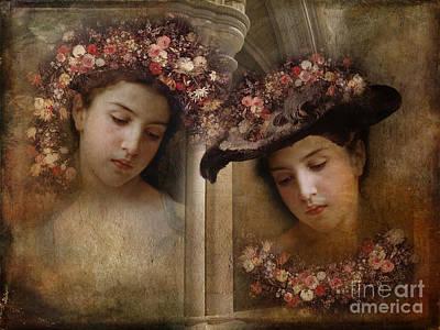 Digital Art - Vintage Twins? by Barbara Dudzinska