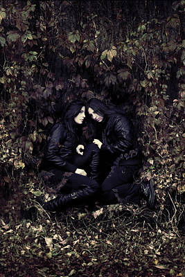 Darkness Photograph - Twins by Cambion Art