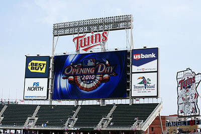 Photograph - Twins Home Opener 2010 by Ron Read