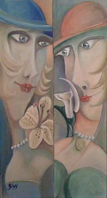 Painting - Twins I. by Gyorgy Szilagyi