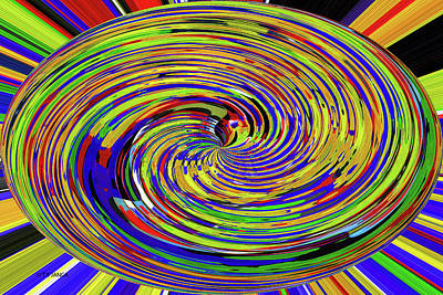 Digital Art - Twirl  Color Abstract by Tom Janca