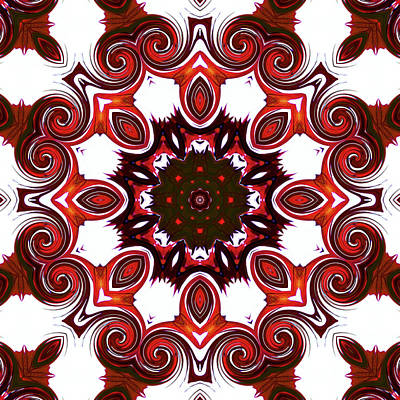 Digital Art - Twirl Mandala by Yulia Kazansky