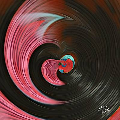 Drawing - Twirling Art With Twirling Flow by Sheila Mcdonald