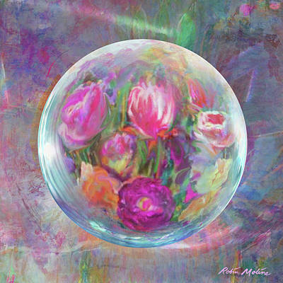 Digital Art - Twirling In Tulips by Robin Moline