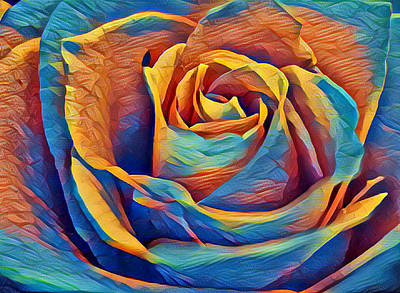 Digital Art - Twist On A Masterpiece 1 by Rhonda Barrett
