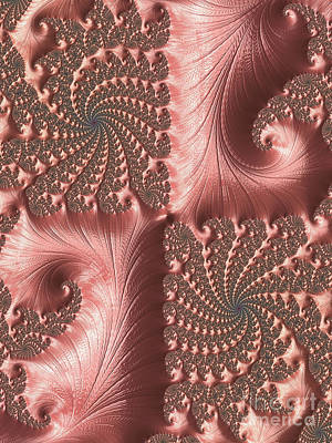 Digital Art - Twisted Coral by Elaine Teague