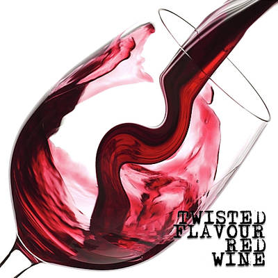 Digital Art - Twisted Flavour Red Wine Tfrw Bottom by ISAW Gallery