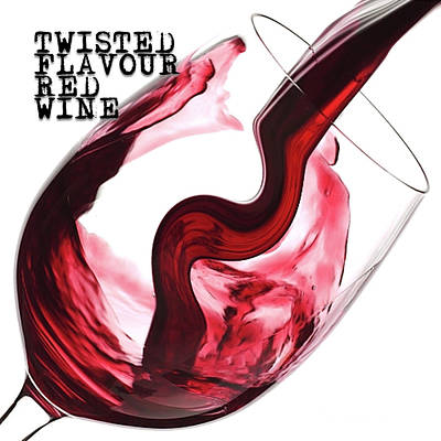 Digital Art - Twisted Flavour Red Wine Tfrw Top by ISAW Gallery