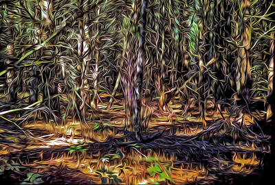 Digital Art - Twisted Forest by Dennis Bucklin