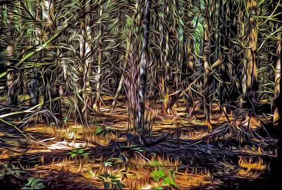 Digital Art - Twisted Forest by Dennis Bucklin