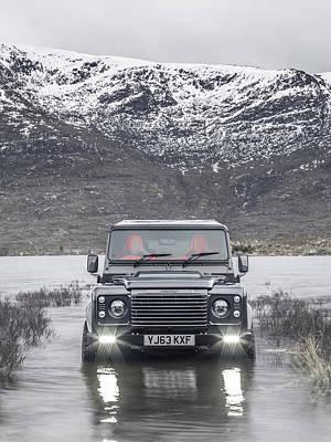 Twisted Land Rover Defender Art Print
