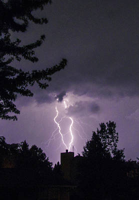 Photograph - Twisted Lightning Strokes by Deborah Smolinske