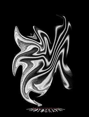 Digital Art - Twisted Metal Transparency by Robert Woodward