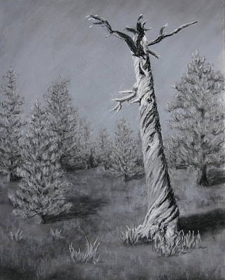 Art Print featuring the painting Twisted by Nancy Jolley