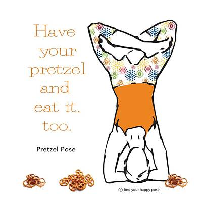 Twisted Pretzel Pose Art Print